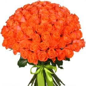 """Букет из 75 оранжевых роз """"Вау"""""""