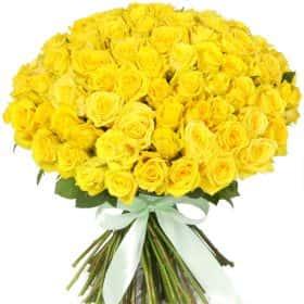 "Букет из 75 желтых роз ""Топ Сан"""