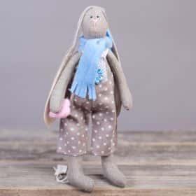 Игрушка ручной работы «Заяц», (gray)