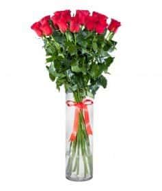 17 длинных роз 140 см