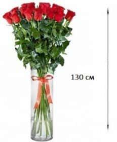 17 длинных роз 130 см