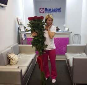11 гигантских красных роз 170см