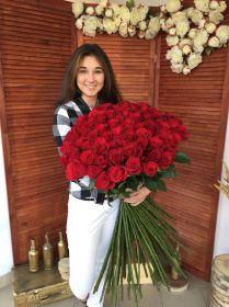 33 длинные розы 130 см