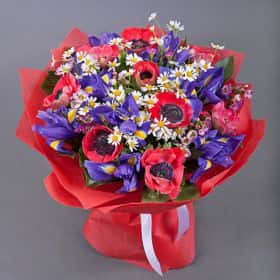 Букет цветов «Маковое поле»