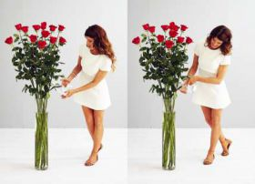 13 гигантских красных роз 160 см