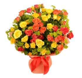 Букет из кустовых роз «Яркая муза»