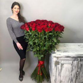 51 длинная роза 140 см