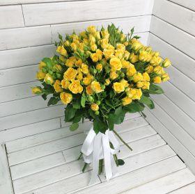 Роза кустовая Еллоу Бейби