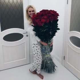 51 гигантская красная роза 170см