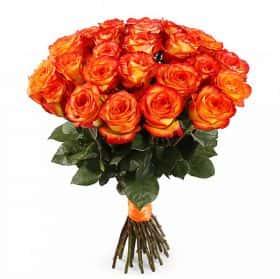 Букет Магия застывшего огня (25 роз)