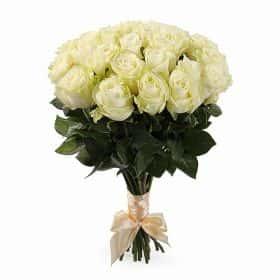 Букет Белые ночи (25 белых роз)
