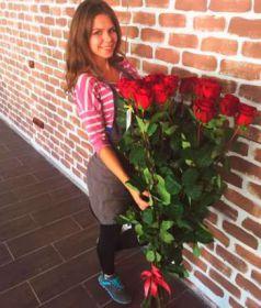 11 гигантских Красных роз 150 см