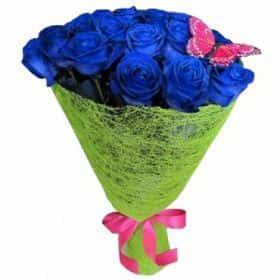 17 синих роз