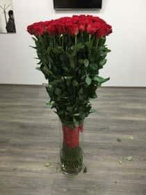 101 гигантская красная роза 150см