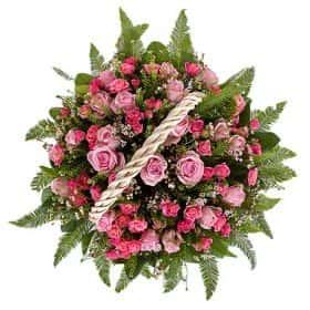 Корзина «Розовый сон»