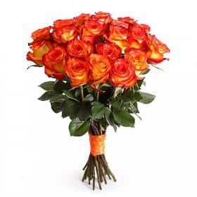 Букет Магия застывшего огня (21 роза)