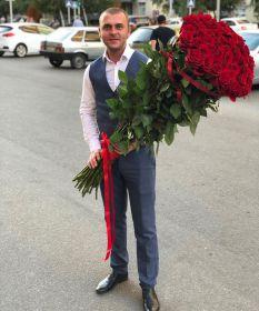 37 длинных роз 130 см
