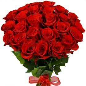 """Букет из 25 красных роз """"Фридом"""""""